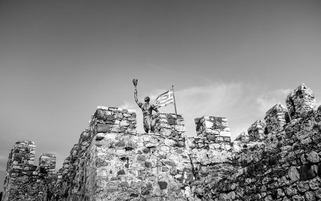 photo noir et blanc statue Grèce